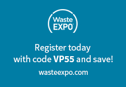 Register today with code VP55 and save at wasteexpo.com!