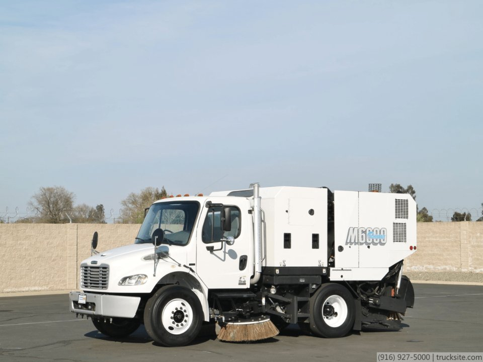 2008 Freightliner M2 Schwarze M6000 Mechanical Broom Sweeper